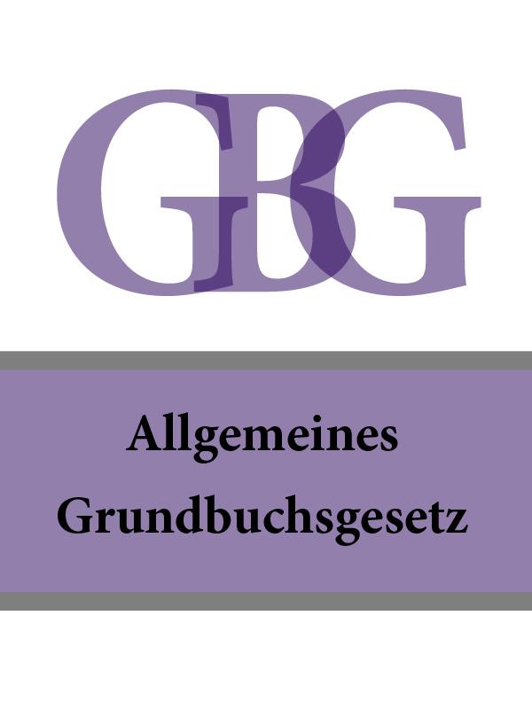 Österreich Allgemeines Grundbuchsgesetz – GBG gbg slim 90x120