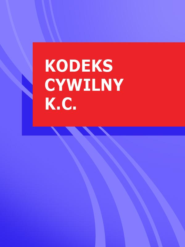 Polska Kodeks cywilny k.c.
