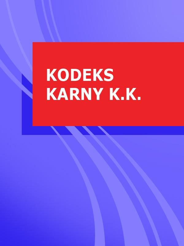 Polska Kodeks karny k.k.