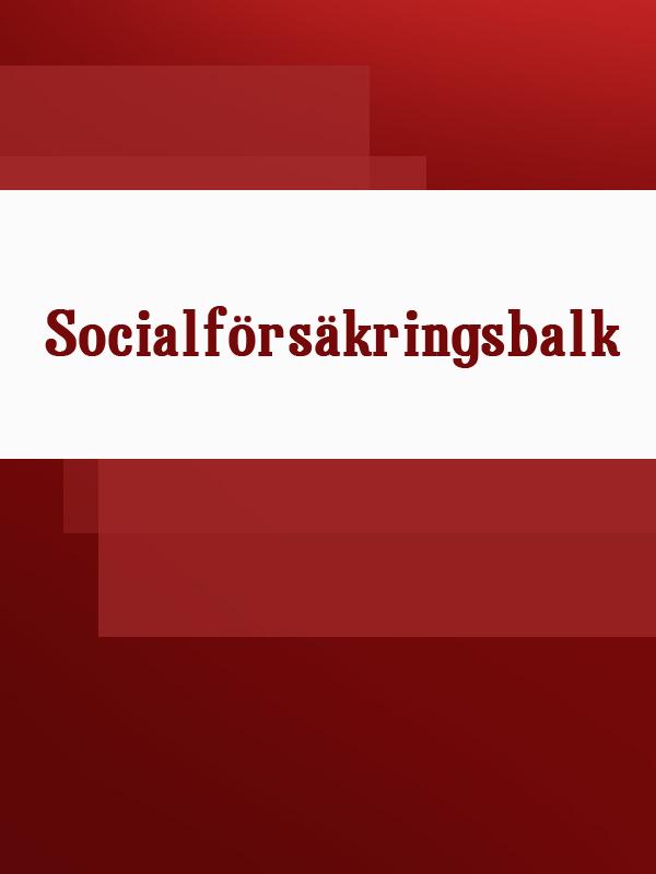Socialförsäkringsbalk