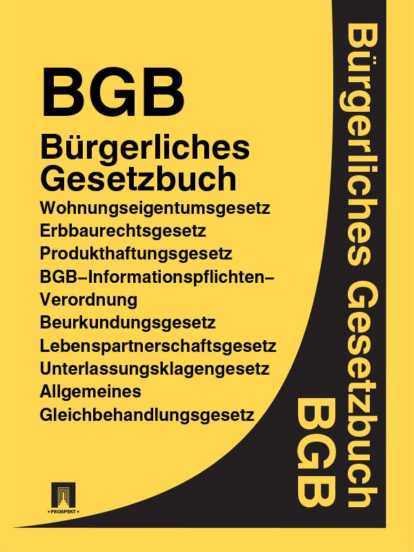 Deutschland BGB – Bürgerliches Gesetzbuch
