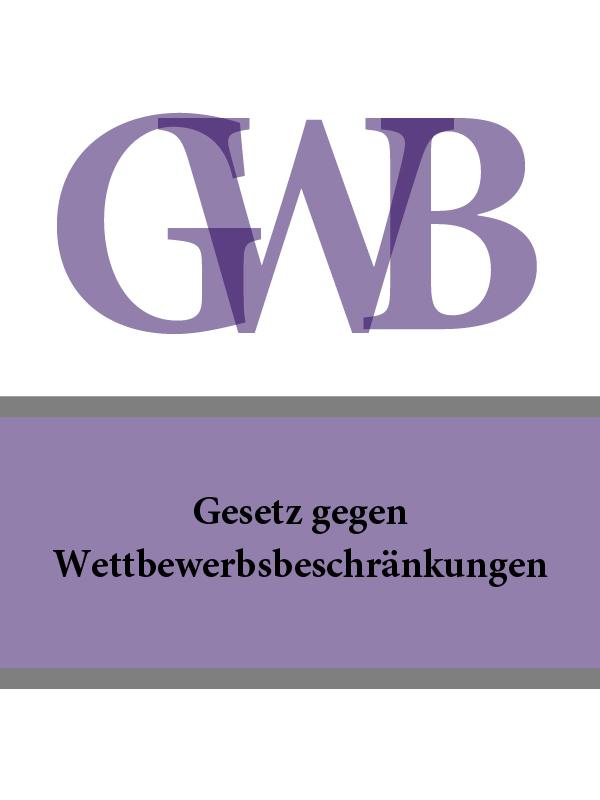 Deutschland Gesetz gegen Wettbewerbsbeschränkungen – GWB дутики der spur der spur de034awkyw71