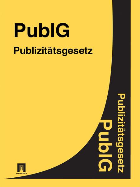 Publizitätsgesetz – PublG