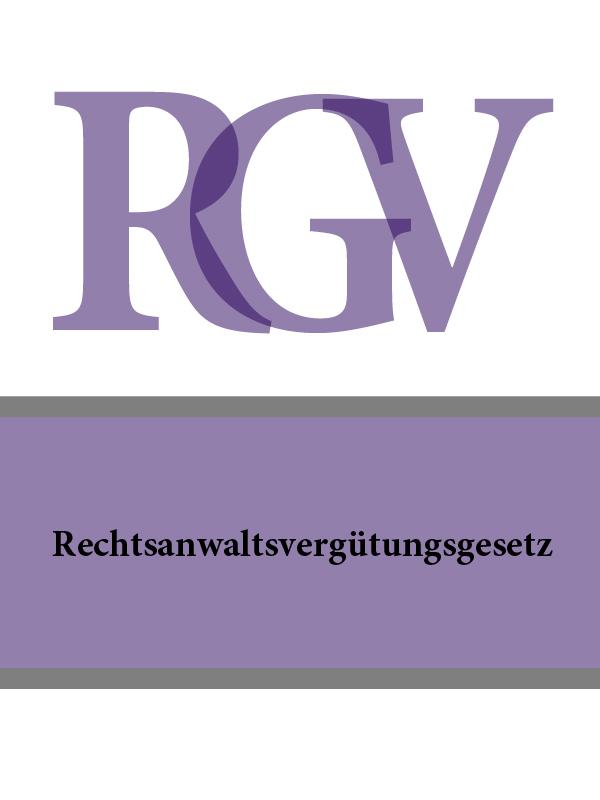Rechtsanwaltsvergutungsgesetz – RVG