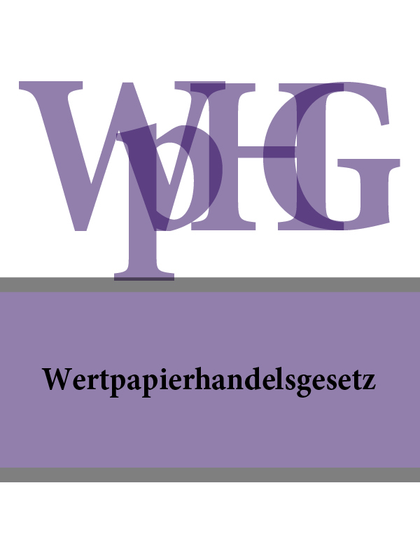 Deutschland Wertpapierhandelsgesetz – WpHG дутики der spur der spur de034awkyw71