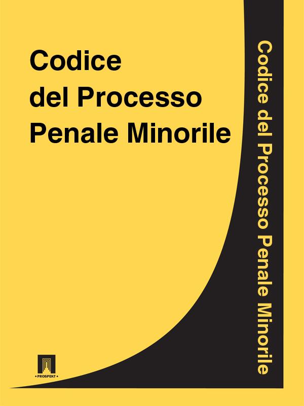 Italia Codice del Processo Penale Minorile italia codice di procedura civile
