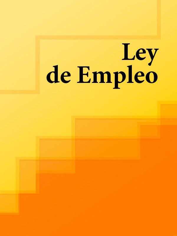 Espana Ley de Empleo