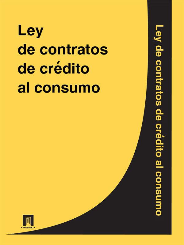Espana Ley de contratos de credito al consumo