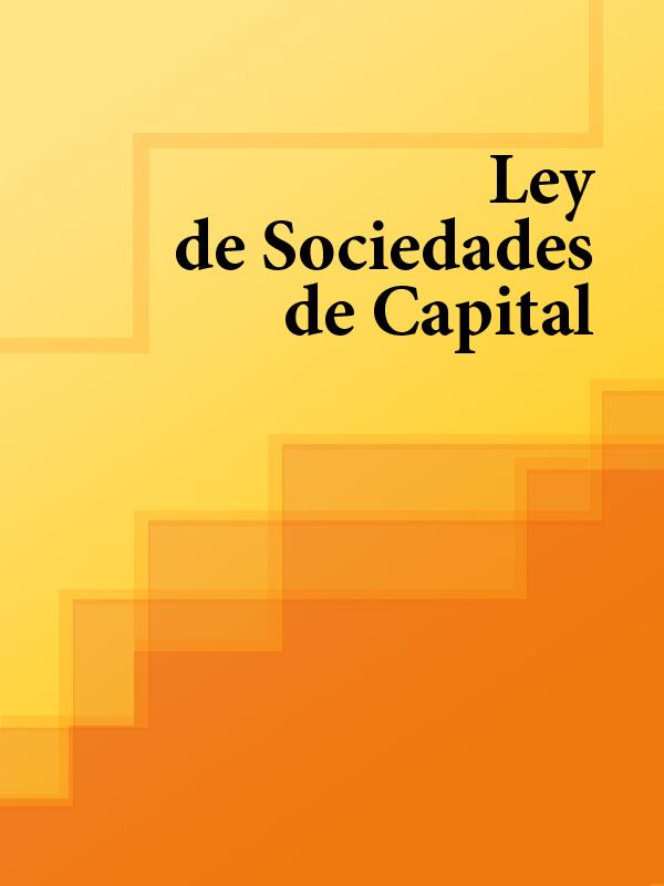 Espana Ley de Sociedades de Capital espana ley de costas