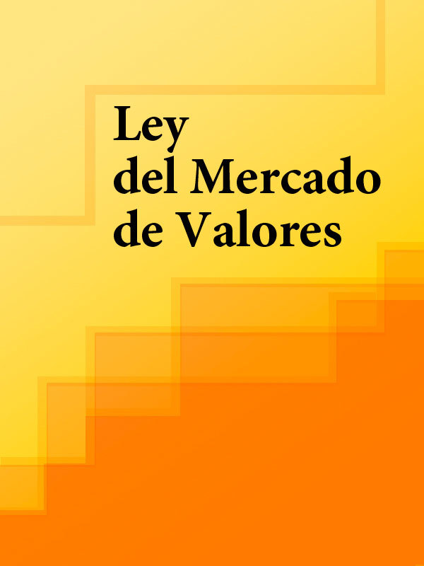 Espana Ley del Mercado de Valores