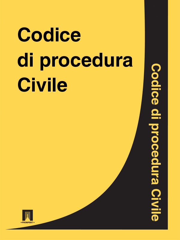 Italia Codice di procedura Civile italia codice di procedura civile