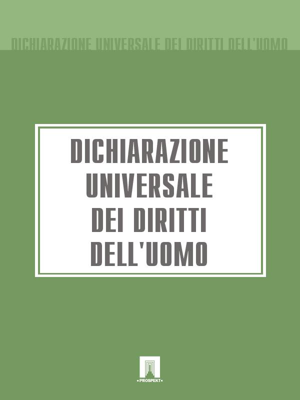 Italia Dichiarazione Universale dei Diritti dell'Uomo