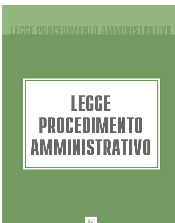 Italia Legge Procedimento Amministrativo italia codice di procedura civile
