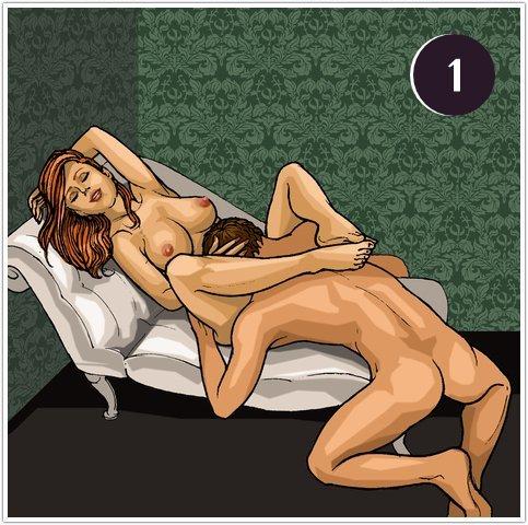 Позы для орального секса на диване