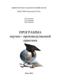 - Программа научно-производственной практики