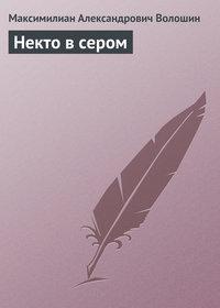 Волошин, Максимилиан Александрович  - Некто в сером