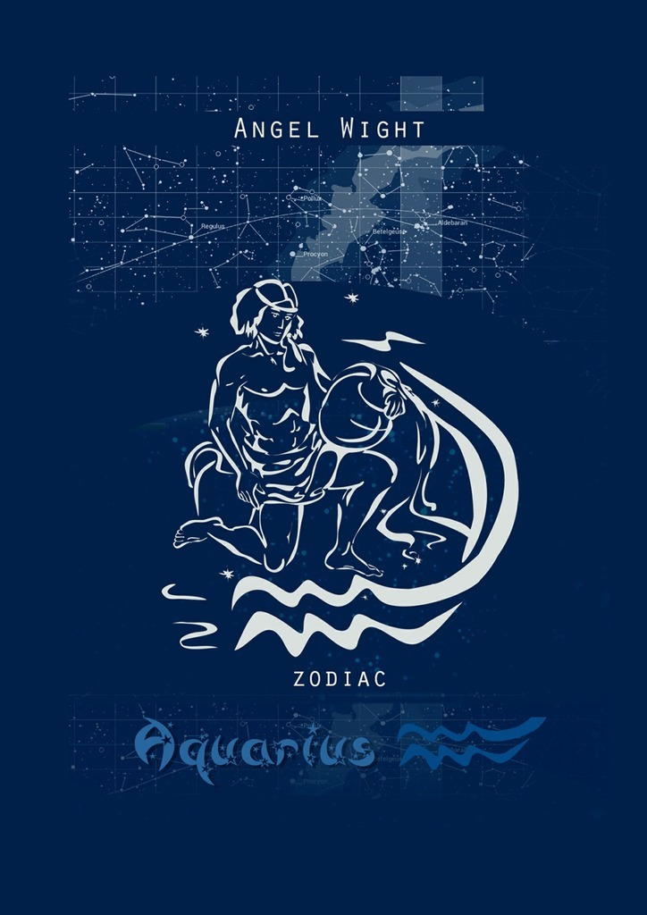 Wight Angel Aquarius. Zodiac russian phrase book