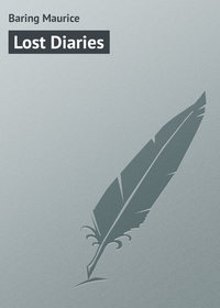 Baring Maurice - Lost Diaries