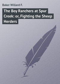 F., Baker Willard  - The Boy Ranchers at Spur Creek: or, Fighting the Sheep Herders