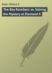 F., Baker Willard  - The Boy Ranchers: or, Solving the Mystery at Diamond X