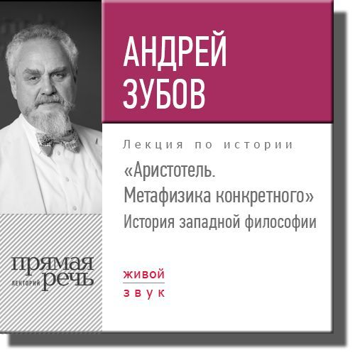 цены Андрей Зубов Лекция «Аристотель. Метафизика конкретного. История западной философии»