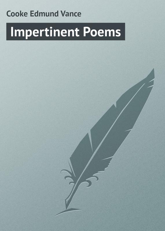 Cooke Edmund Vance Impertinent Poems vance joy toronto