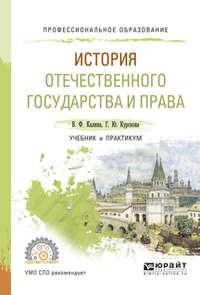Калина, Владимир Филиппович  - История отечественного государства и права. Учебник и практикум для СПО