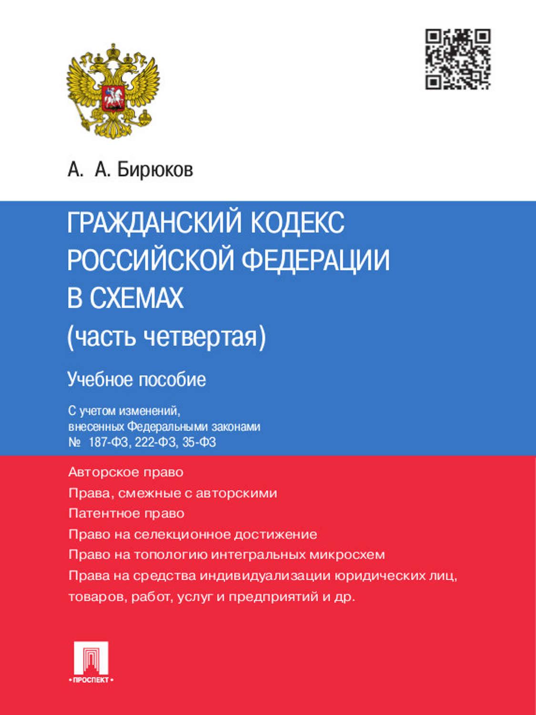 Гражданский кодекс рф в схемах