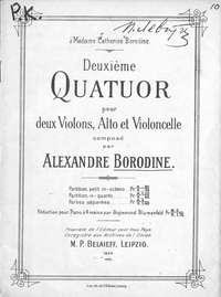 Александр Бородин - Deuxieme Quatuor pour deux Violons, Alto et Violoncelle
