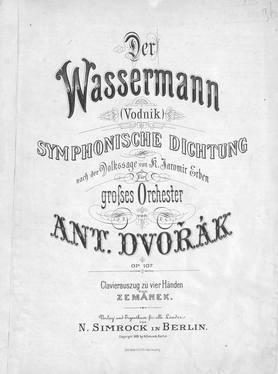 Антонин Дворжак Der Wassermann цена