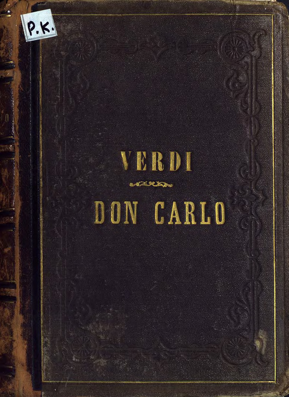 Джузеппе Верди Don Carlo carlo gattini сумка 5014 01