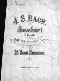 Иоганн Себастьян Бах - Klavier-konzert f-moll mit Begleitung eines zweiten klaviers