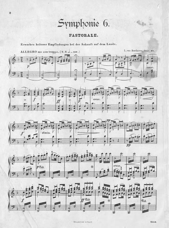 где купить Людвиг ван Бетховен Symphonie № 6 (Pastoral) F-Dur по лучшей цене