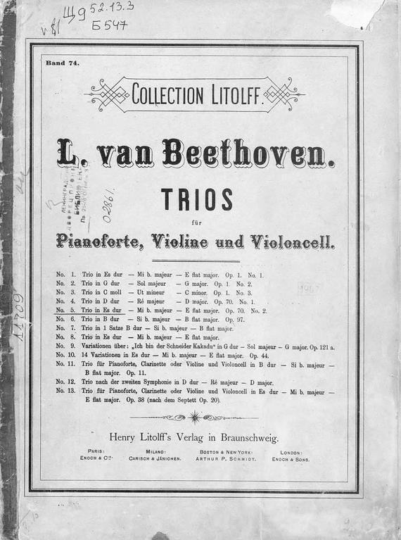 Trio in Es dur (Mi b. majeur)
