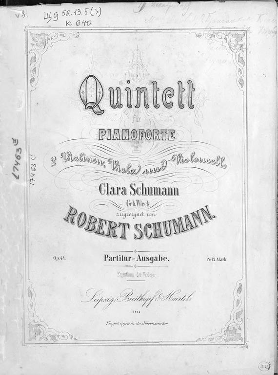 Роберт Шуман Quintett fur Pianoforte, 2 Violinen, Viola und Violoncello von Robert Schumann klassische violoncello violoncello fur anfanger mit musik von bach beethoven mozart und anderen komponisten