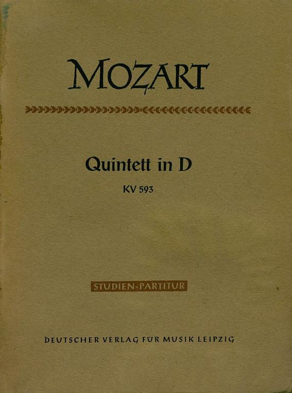 Вольфганг Амадей Моцарт Quintett in D fur 2 Violinen, 2 Violen und Violoncello klassische violoncello violoncello fur anfanger mit musik von bach beethoven mozart und anderen komponisten