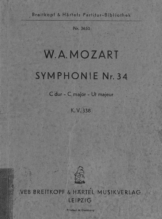 Вольфганг Амадей Моцарт Symphonie № 34 вольфганг амадей моцарт titus