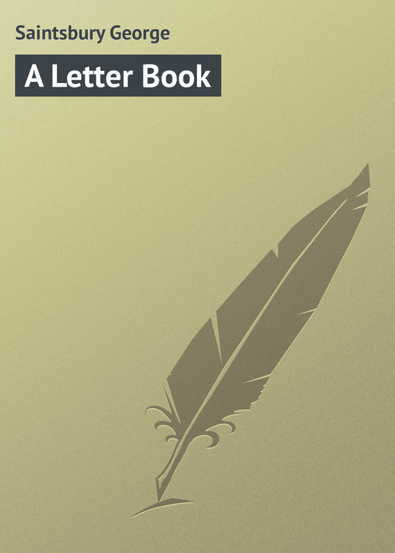 Saintsbury George A Letter Book letter graphic long tank top