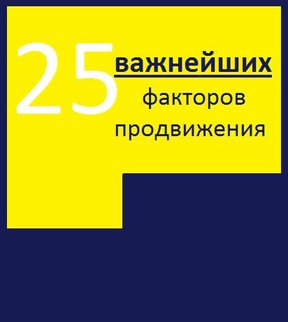 Алексей Александрович Тюрин 25 важнейших факторов продвижения сайта цена