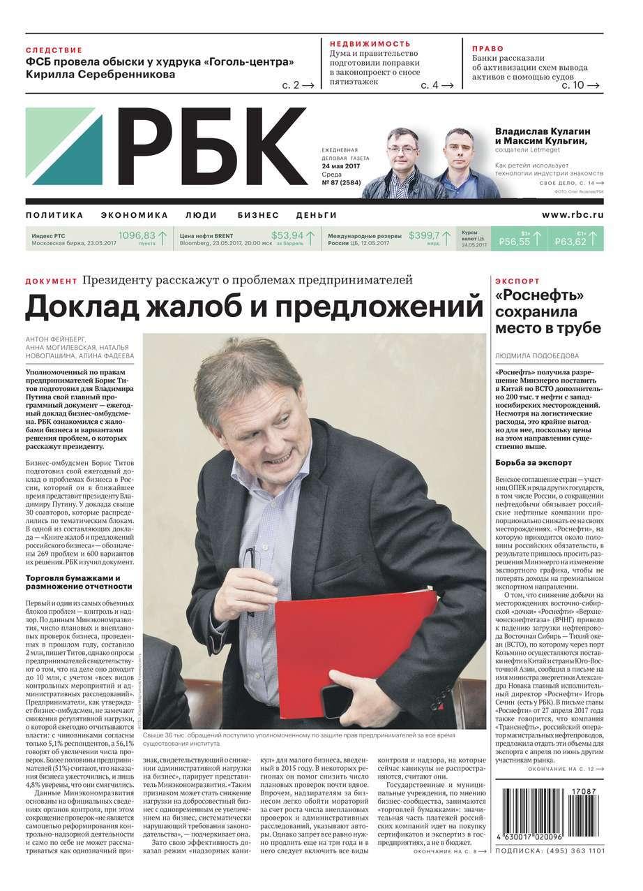 Ежедневная Деловая Газета Рбк 87-2017
