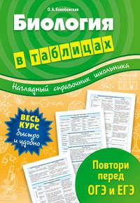 Конобевская, Ольга Александровна  - Биология в таблицах