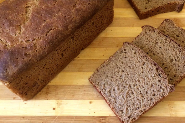 Бездрожжевой хлеб из ржаной муки видео