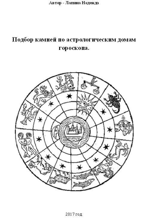 Надежда Михайловна Лапина Подбор камней по астрологическим домам гороскопа камни талисманы в харькове