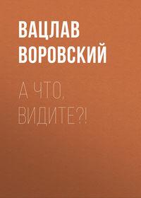 Вацлав Воровский - А что, видите?!