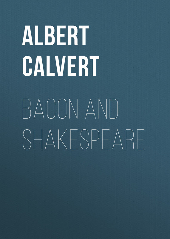 Albert Frederick Calvert Bacon and Shakespeare shakespeare lexicon