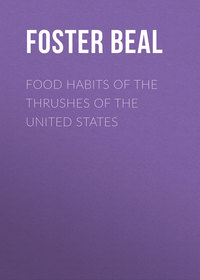 Lascelles, Beal Foster Ellenborough  - Food Habits of the Thrushes of the United States