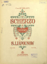 Сергей Михайлович Ляпунов - Scherzo pour le piano par S. Liapunow