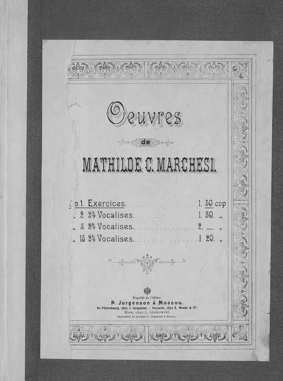занимательное описание в книге Матильда Маркези