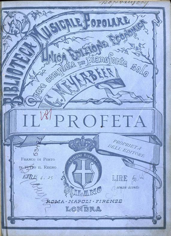 Джакомо Мейербер Il profeta free shipping 5pcs lot w9nk90z stw9nk90z offen use laptop p 100% new original