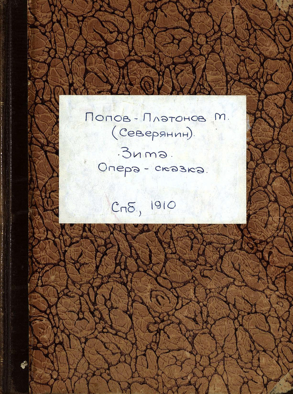 М. Попов-Платонов (Северянин) Зима попов м записки пустынножителя